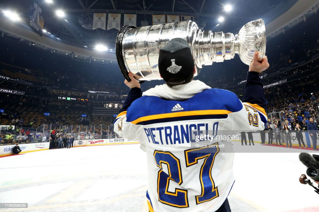 d63f4ef0ad5 Alex Pietrangelo of the St. Louis Blues celebrates with the Stanley ...