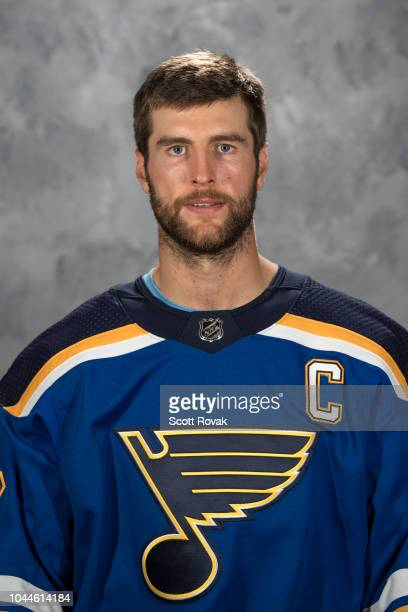 Alex Pietrangelo of the St Louis Blues poses for his official headshot for the 20182019 season on September 13 2018 in St Louis Missouri