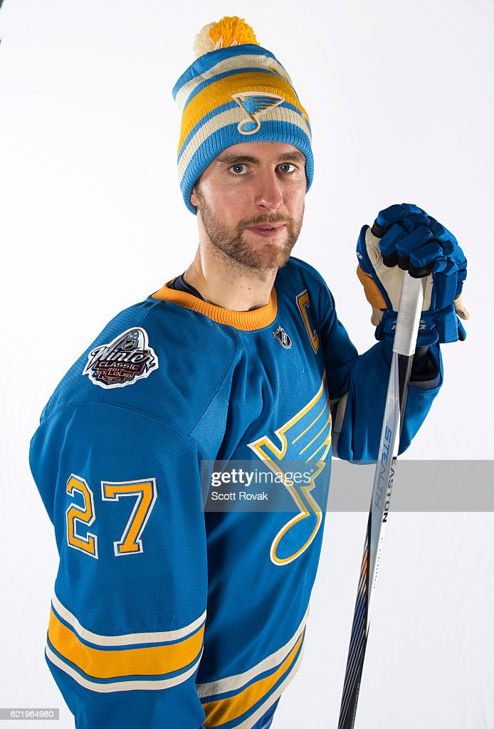 low priced 421ba b477e Alex Pietrangelo of the St. Louis Blues Unveilling the 2016 ...