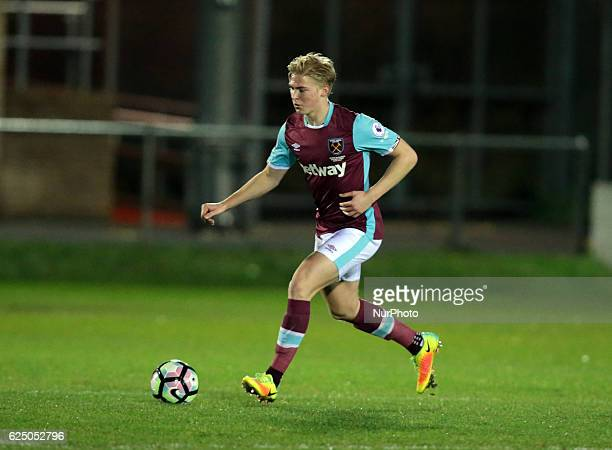 Alex Pike of West Ham United U23s during Premier League 2 match between West Ham United Under 23s against Blackburn Rovers Under 23s at Chigwell...