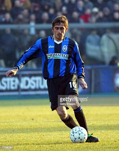 Alex Pinardi of Atalanta in action during the Serie A match between Atalanta and Juventus played at the Azzurri d'Italia Stadium Bergamo Italy on...