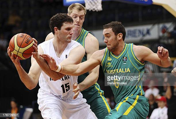Alex Pledger of the Tall Blacks in action during the Men's FIBA Oceania Championship match between the Australian Boomers and the New Zealand Tall...