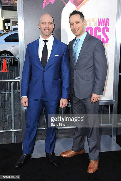 Alex Podrizki and David Packouz attend the premiere of Warner Bros Pictures' 'War Dogs' at TCL Chinese Theatre on August 15 2016 in Hollywood...