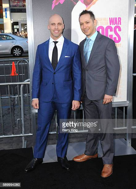 Alex Podrizki and David Packouz attend the premiere of Warner Bros. Pictures' 'War Dogs' at TCL Chinese Theatre on August 15, 2016 in Hollywood,...