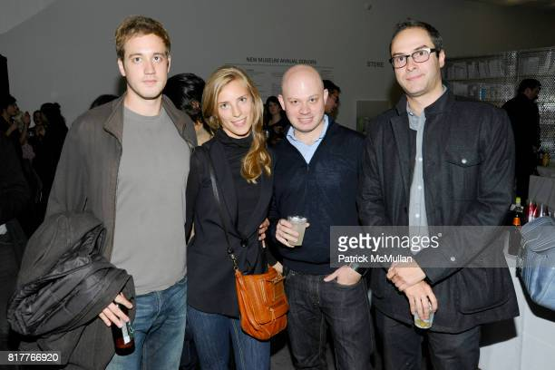 Alex Poe Lyly Lyon Ben David and Andrew Goldstein attend New Museum VIP Preview of THE LAST NEWSPAPER Opening at New Museum on the Bowery on October...