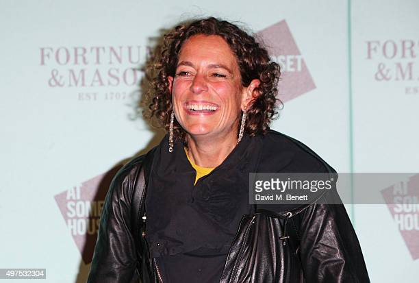 Alex Polizzi attends the opening party of Skate at Somerset House with Fortnum Mason at Somerset House on November 17 2015 in London England The...