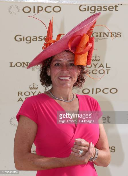 Alex Polizzi presents the prize to the winner of the Jersey Stakes during day two of Royal Ascot at Ascot Racecourse