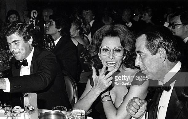 Alex Ponti Sophia Loren and Guest during 9th Annual Fragrance Ball at Sheraton Center in New York City New York United States