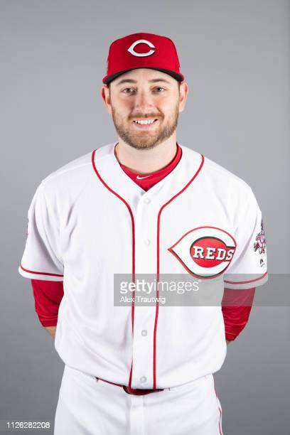 Alex Powers of the Cincinnati Reds poses during Photo Day on Tuesday February 19 2019 at Goodyear Ballpark in Goodyear Arizona
