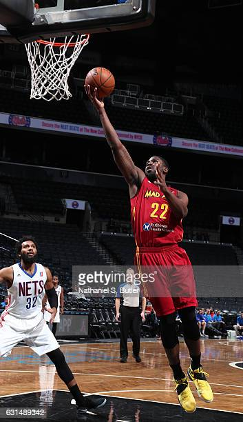 Alex Poythress of the Fort Wayne Mad Ants drives to the basket against the Long Island Nets on January 10 2017 at Barclays Center in Brooklyn NY NOTE...