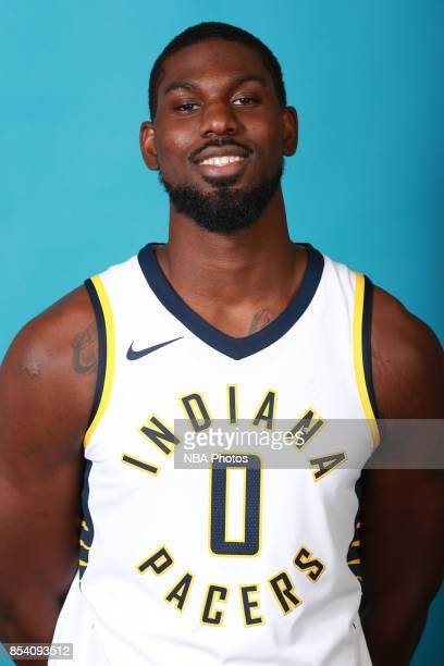 Alex Poythress of the Indiana Pacers poses for a head shot during media day at Bankers Life Fieldhouse on September 25 2017 in Indianapolis Indiana...