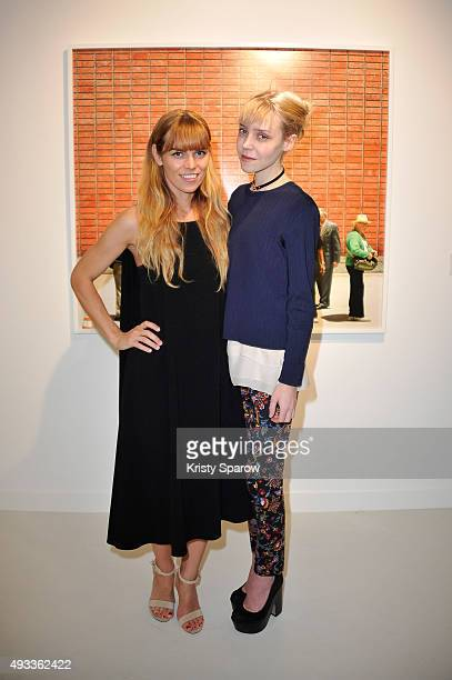 Alex Prager and Antonia Campbell Hughes attend the 'Alex Prager Exibition' Press Preview at Galeries Lafayette on October 19 2015 in Paris France
