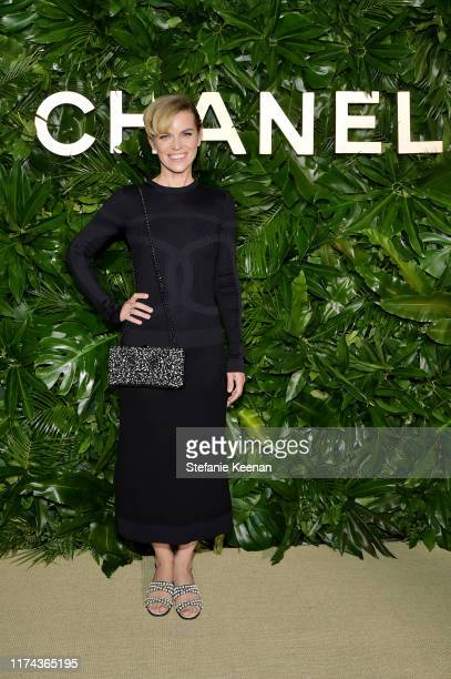 Alex Prager attends Chanel Dinner Celebrating Gabrielle Chanel Essence With Margot Robbie on September 12 2019 in Los Angeles California