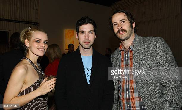 Alex Prager Leo Fitzpatrick and Jason Lee during Chad Robertson's 'Where Ever You Go There You Are' Art Show at Quixote Studios in Hollywood...