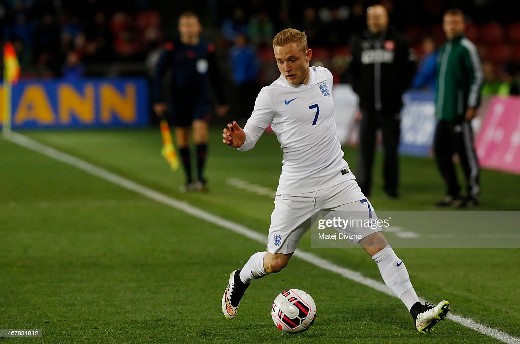 Alex Pritchard of England in action during the international friendly match between U21 Czech Republic and U21 England at Letna Stadium on March 27, 2015 in Prague, Czech Republic.