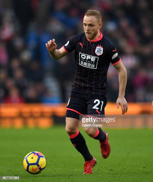 Alex Pritchard of Huddersfield during the Premier League match between Stoke City and Huddersfield Town at Bet365 Stadium on January 20 2018 in Stoke...