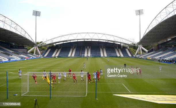 Alex Pritchard of Huddersfield shoots at goal during the Sky Bet Championship match between Huddersfield Town and Wigan Athletic at John Smith's...