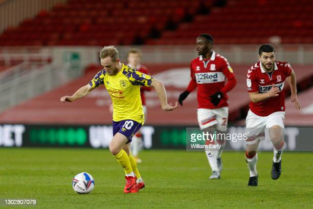 Alex Pritchard of Huddersfield Town controls the ball during the Sky Bet Championship match between Middlesbrough and Huddersfield Town at Riverside...
