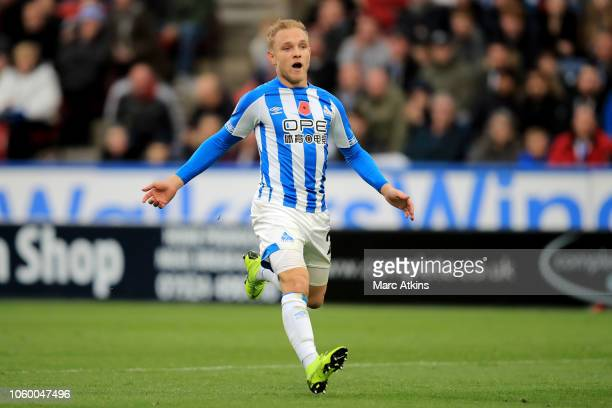 Alex Pritchard of Huddersfield Town during the Premier League match between Huddersfield Town and West Ham United at John Smith's Stadium on November...
