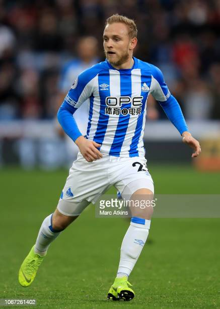 Alex Pritchard of Huddersfield Town during the Premier League match between Huddersfield Town and Brighton Hove Albion at John Smith's Stadium on...