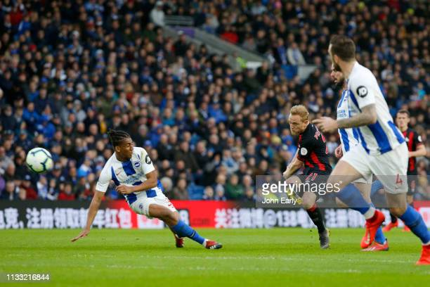 Alex Pritchard of Huddersfield Town during the Premier League match between Brighton Hove Albion and Huddersfield Town at American Express Community...
