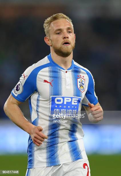 Alex Pritchard of Huddersfield Town during the Premier League match between Huddersfield Town and West Ham United at John Smith's Stadium on January...