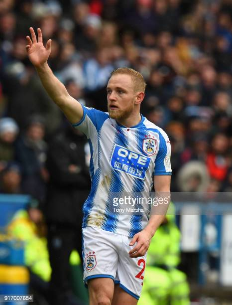 Alex Pritchard of Huddersfield Town during the Premier League match between Huddersfield Town and AFC Bournemouth at John Smith's Stadium on February...