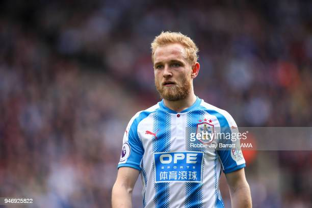Alex Pritchard of Huddersfield Town during the Premier League match between Huddersfield Town and Watford at John Smith's Stadium on April 14 2018 in...
