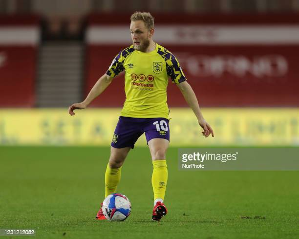 Alex Pritchard of Huddersfield Town during the Sky Bet Championship match between Middlesbrough and Huddersfield Town at the Riverside Stadium,...