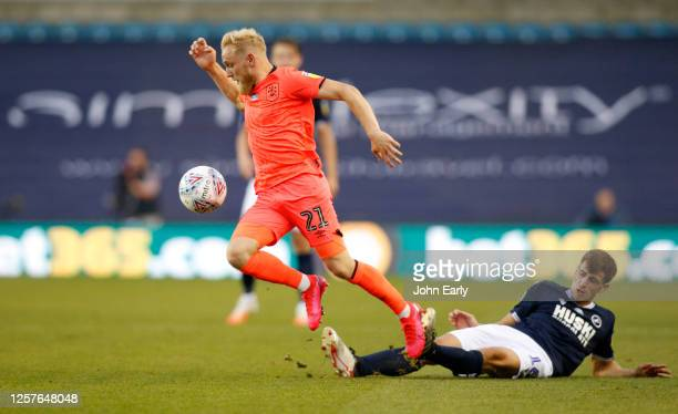 Alex Pritchard of Huddersfield Town during the Sky Bet Championship match between Millwall and Huddersfield Town at The Den on July 22 2020 in London...
