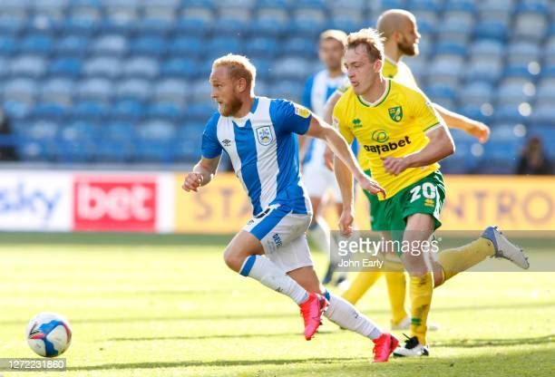 Alex Pritchard of Huddersfield Town during the Sky Bet Championship match between Huddersfield Town and Norwich City at John Smith's Stadium on...
