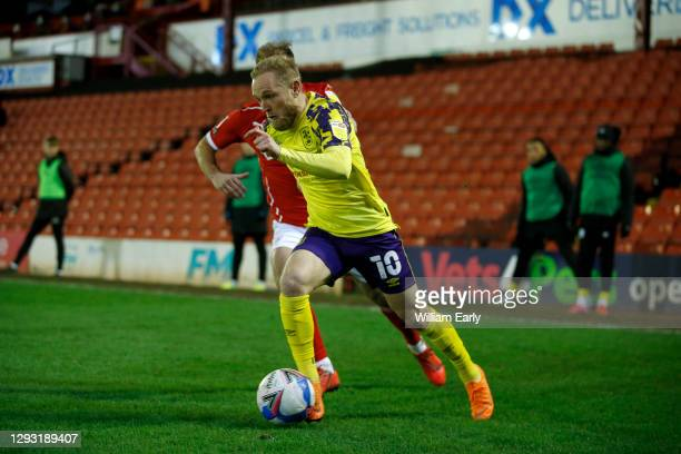 Alex Pritchard of Huddersfield Town during the Sky Bet Championship match between Barnsley and Huddersfield Town at Oakwell Stadium on December 26,...