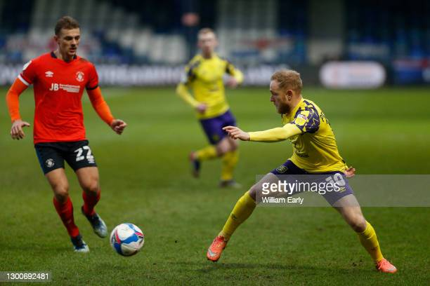 Alex Pritchard of Huddersfield Town during the Sky Bet Championship match between Luton Town and Huddersfield Town at Kenilworth Road on February 06,...