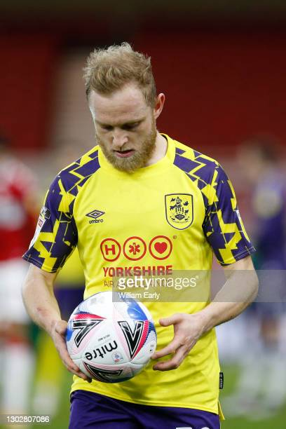 Alex Pritchard of Huddersfield Town holds the ball during the Sky Bet Championship match between Middlesbrough and Huddersfield Town at Riverside...