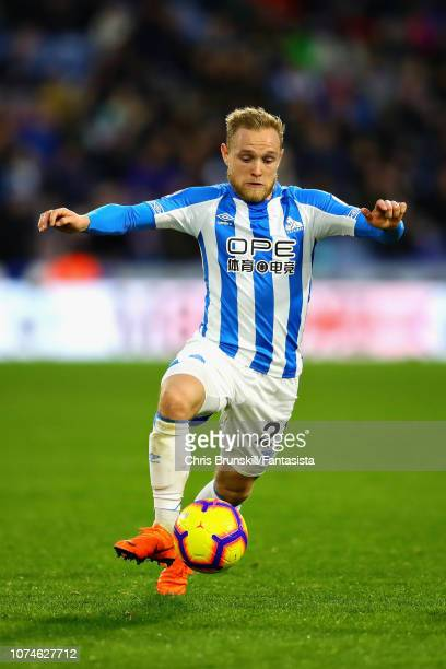 Alex Pritchard of Huddersfield Town in action during the Premier League match between Huddersfield Town and Southampton FC at John Smith's Stadium on...