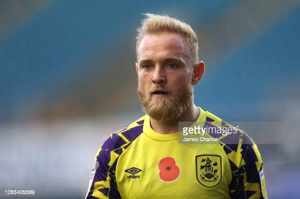 Alex Pritchard of Huddersfield Town looks on during the Sky Bet Championship match between Millwall and Huddersfield Town at The Den on October 31,...