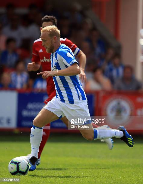 Alex Pritchard of Huddersfiled Town during the preseason friendly between Accrington Stanley and Huddersfield Town at The Crown Groundon July 14 2018...