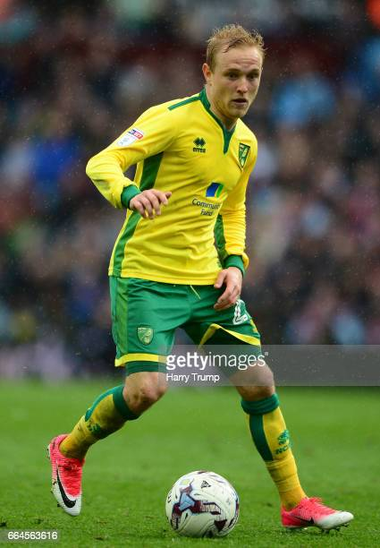 Alex Pritchard of Norwich City during the Sky Bet Championship match between Aston Villa and Norwich City at Villa Park on April 1 2017 in Birmingham...