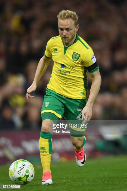 Alex Pritchard of Norwich in action during the Sky Bet Championship match between Norwich City and Brighton Hove Albion at Carrow Road on April 21...