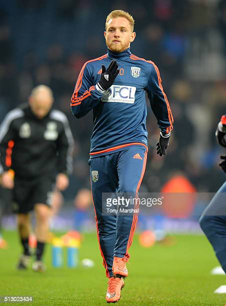 Alex Pritchard of West Bromwich Albion during the warm up before the Barclays Premier League match between West Bromwich Albion and Crystal Palace at...