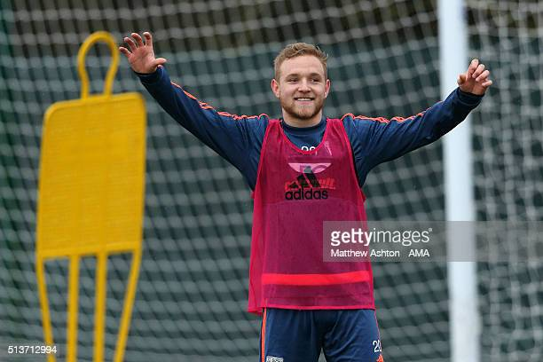 Alex Pritchard of West Bromwich Albion during the West Bromwich Albion training session on March 4 2016 in West Bromwich England
