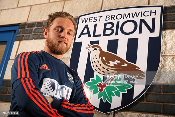 Alex Pritchard signs loan deal at West Bromwich Albion from Tottenham Hotspur at the West Bromwich Albion Training Ground on February 1 2016 in West...