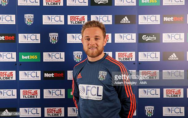 Alex Pritchard signs loan deal at West Bromwich Albion from Tottenham Hotspur at the West Bromwich Albion Training Ground on February 1, 2016 in West...