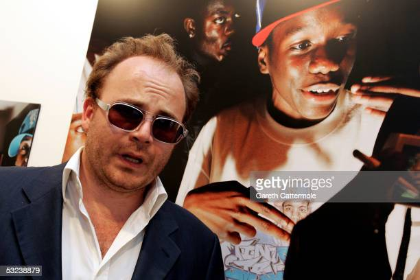 Alex Proud is pictured at the Private View for A Life of Grime a preview of Ewen Spencer's photographs documenting the emergence of the latest sound...