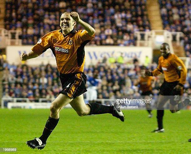Alex Rae of Wolverhampton Wanderers celebrates after scoring the first goal during the second leg of the Nationwide First Division play-off semi...