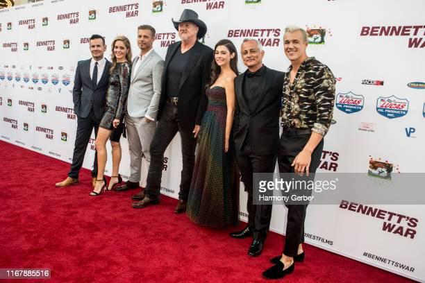 Alex Ranarivelo Christina Moore Michael Roark Trace Adkins Allison Paige Ali Afshar and Hunter Clowdus attend the Los Angeles premiere of Bennett's...