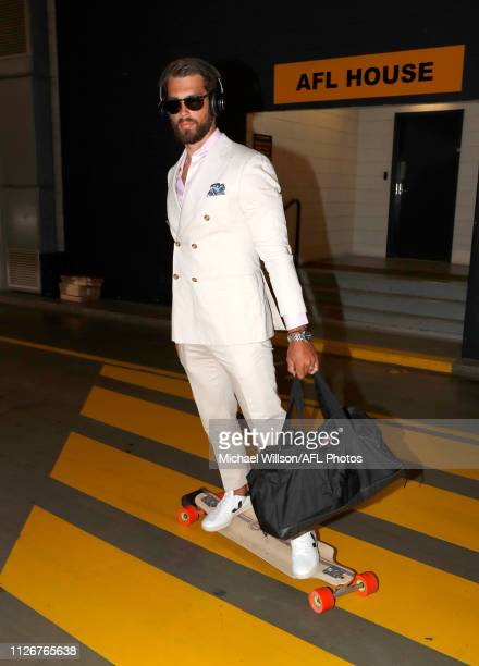 Alex Rance of Team Flyers arrives before the AFLX match between Team Bolts and Team Rampage at Marvel Stadium on February 22 2019 in Melbourne...