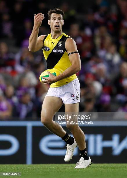 Alex Rance of the Tigers in action during the 2018 AFL round 18 match between the St Kilda Saints and the Richmond Tigers at Etihad Stadium on July...