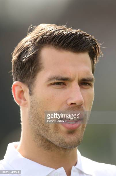 Alex Rance of the Tigers looks on during a 'Fit For Footy' launch at Gosch's Paddock on August 22 2018 in Melbourne Australia