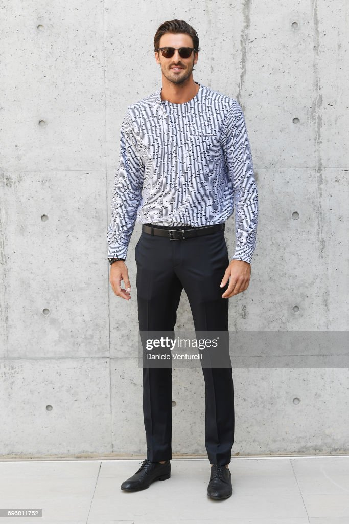 Alex Ranghieri attends the Emporio Armani show during Milan Men's Fashion Week Spring/Summer 2018 on June 17, 2017 in Milan, Italy.